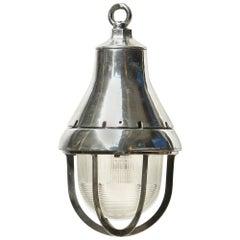 American ceiling Lamp in Polished Aluminium, circa 1950-1959