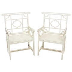 Pair of Chatsworth Estate Painted Chairs