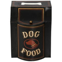Tole 'Dog Food' Canister