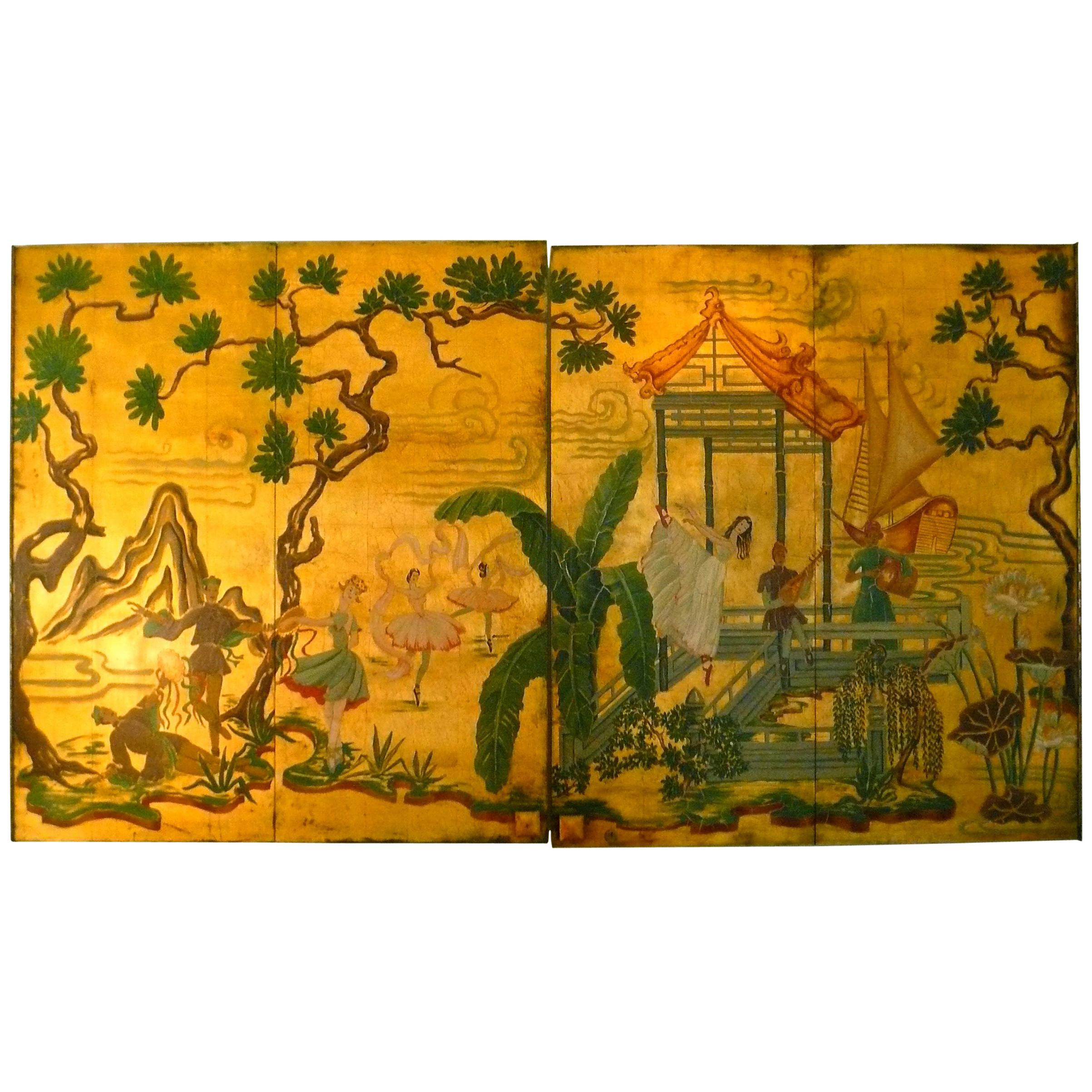 Gorgeous Asian Inspired Textured Wall Hanging Panel at 1stdibs