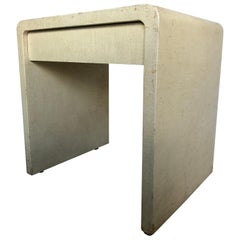 Grasscloth Waterfall Edge Side Table by Karl Springer