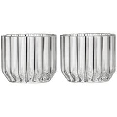 Pair of Czech Contemporary Dearborn Wine Cocktail Glasses Handmade, in Stock