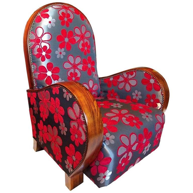 Large Art Deco Armchair, Club Chair, circa 1930