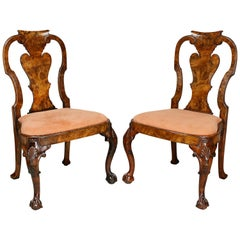 Pair of George I Style Walnut Side Chairs