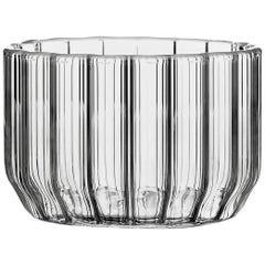 Czech Contemporary Minimal Dearborn Large Glass Bowl Handmade, in Stock
