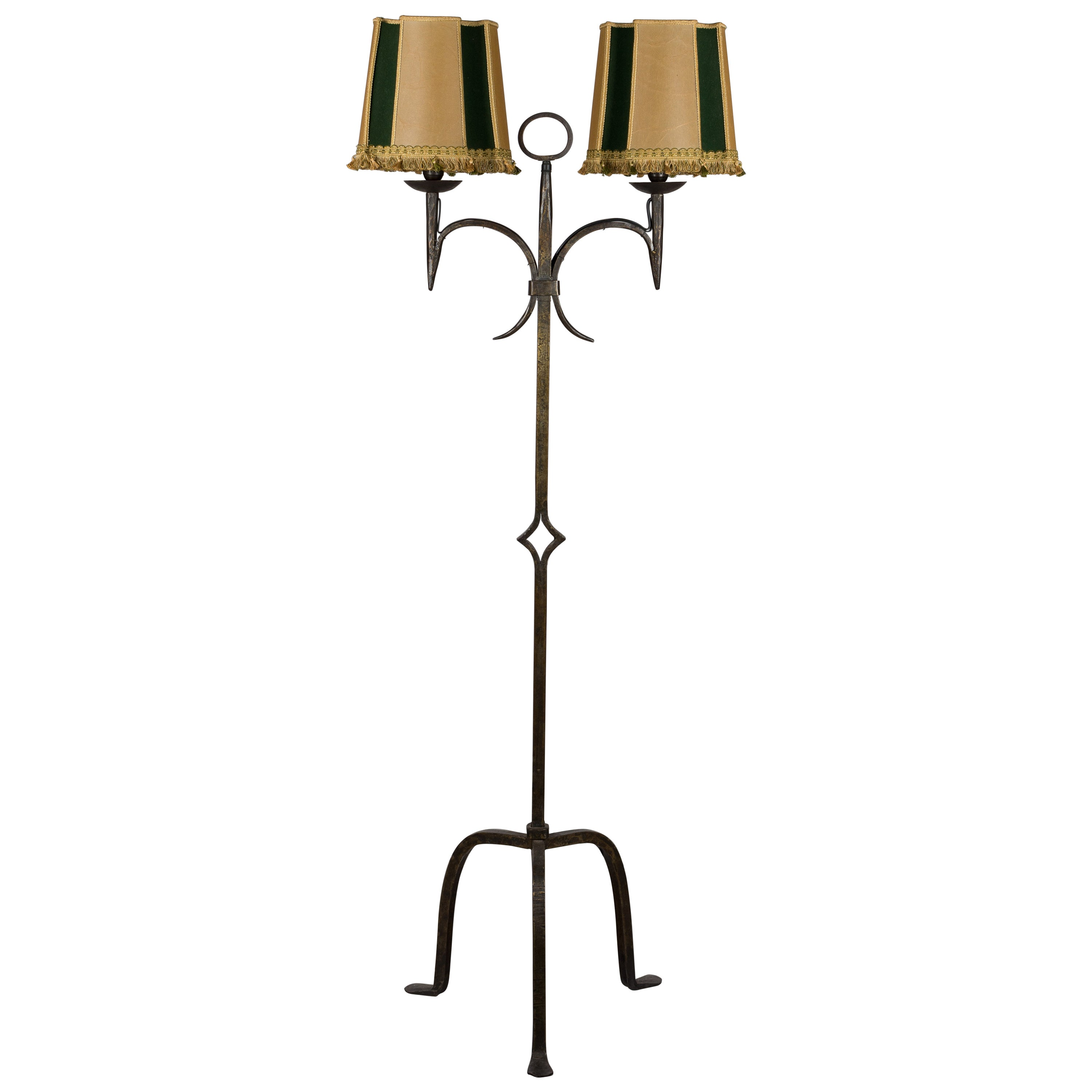 Fine French Wrought Iron Floor Lamp At 1Stdibs Wiring Digital Resources Operpmognl