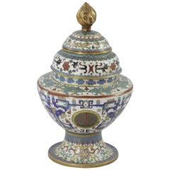 Cloisonné Vase in Three Parts