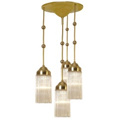 Petite Viennese Josef Hoffmann Chandelier Early 20th Century by Woka Lamps