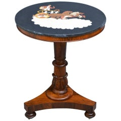 William IV Marble-Topped Centre Table in Rosewood