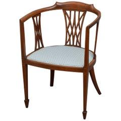 Edwardian Mahogany Tub Chair