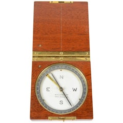 Topographic Compass, Wooden and Brass, of the Late 19th Century