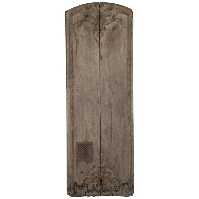 Antique French Architectural Panel or Door, in Original Paint