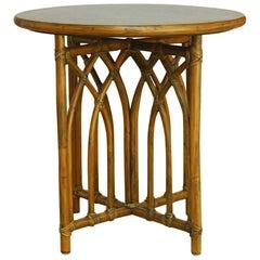 McGuire Organic Modern Bamboo Rattan Drinks Table