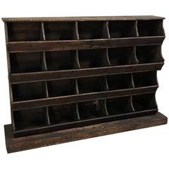 Antique French Store Display Shelf Bin