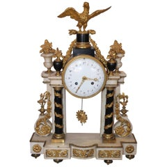 Louis XVI Marble Clock, Early 19th Century