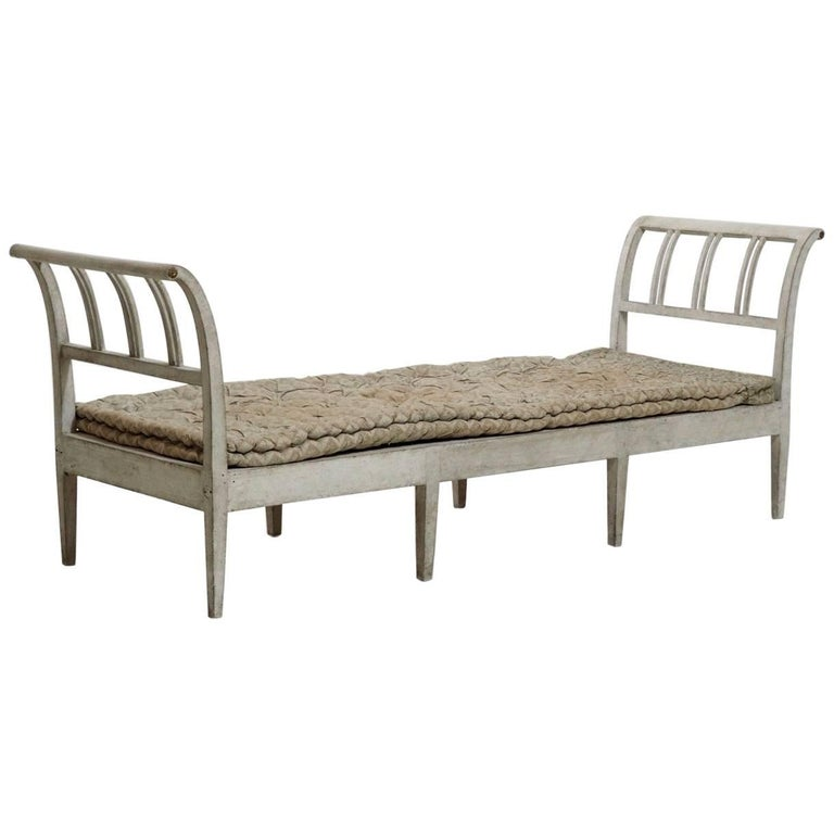 Danish Daybed or Bench with Cushion, circa 1810