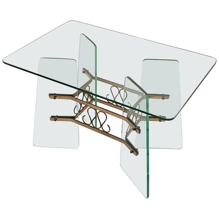 Coffee Table in the Manner of Fontana Arte, Italy, 1950s