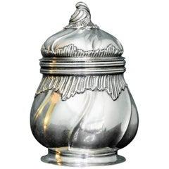 Torretta 18th Century Silver Rococo Italian Republic of Genova Sugar Bowl, 1774
