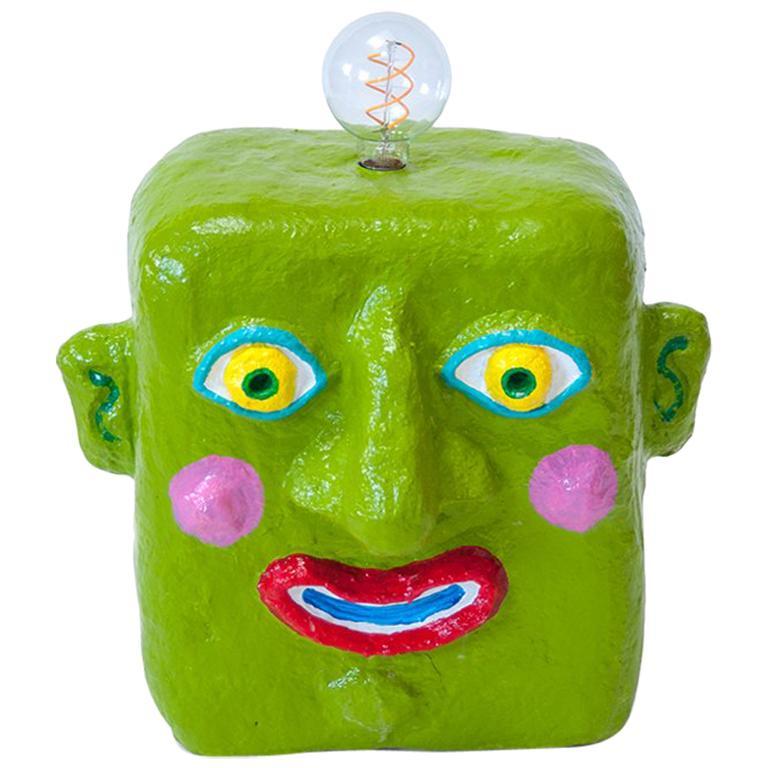 Green Smile Lamp by Brett Douglas Hunter, USA, 2018 For Sale