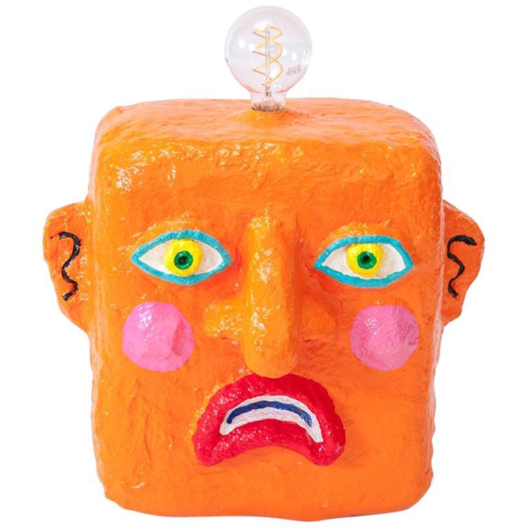 Orange Frown Lamp by Brett Douglas Hunter, USA, 2018 For Sale