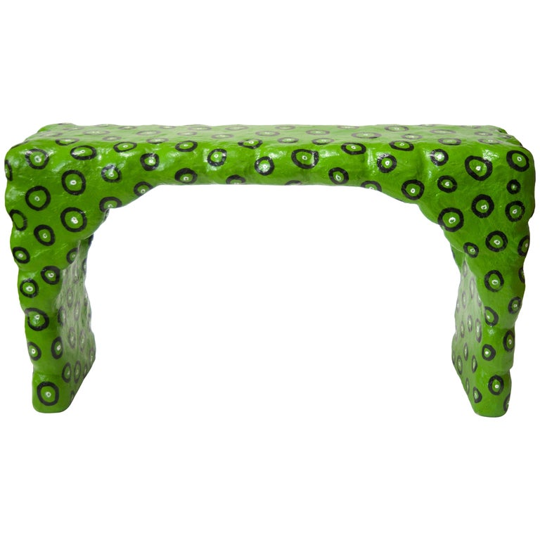 Green Dotted Console Table by Brett Douglas Hunter, USA, 2018 For Sale