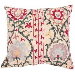 Antique Suzani Pillow Fashioned from a 19th Century, Uzbek Suzani