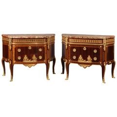 Pair of Parquetry Commodes by Paul Sormani
