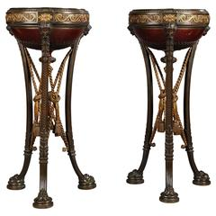 Pair of Napoleon III Jardinières Attributed to Barbedienne, Circa 1870