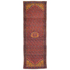 Vintage Persian Malayer Runner with Traditional Style, Hallway Runner