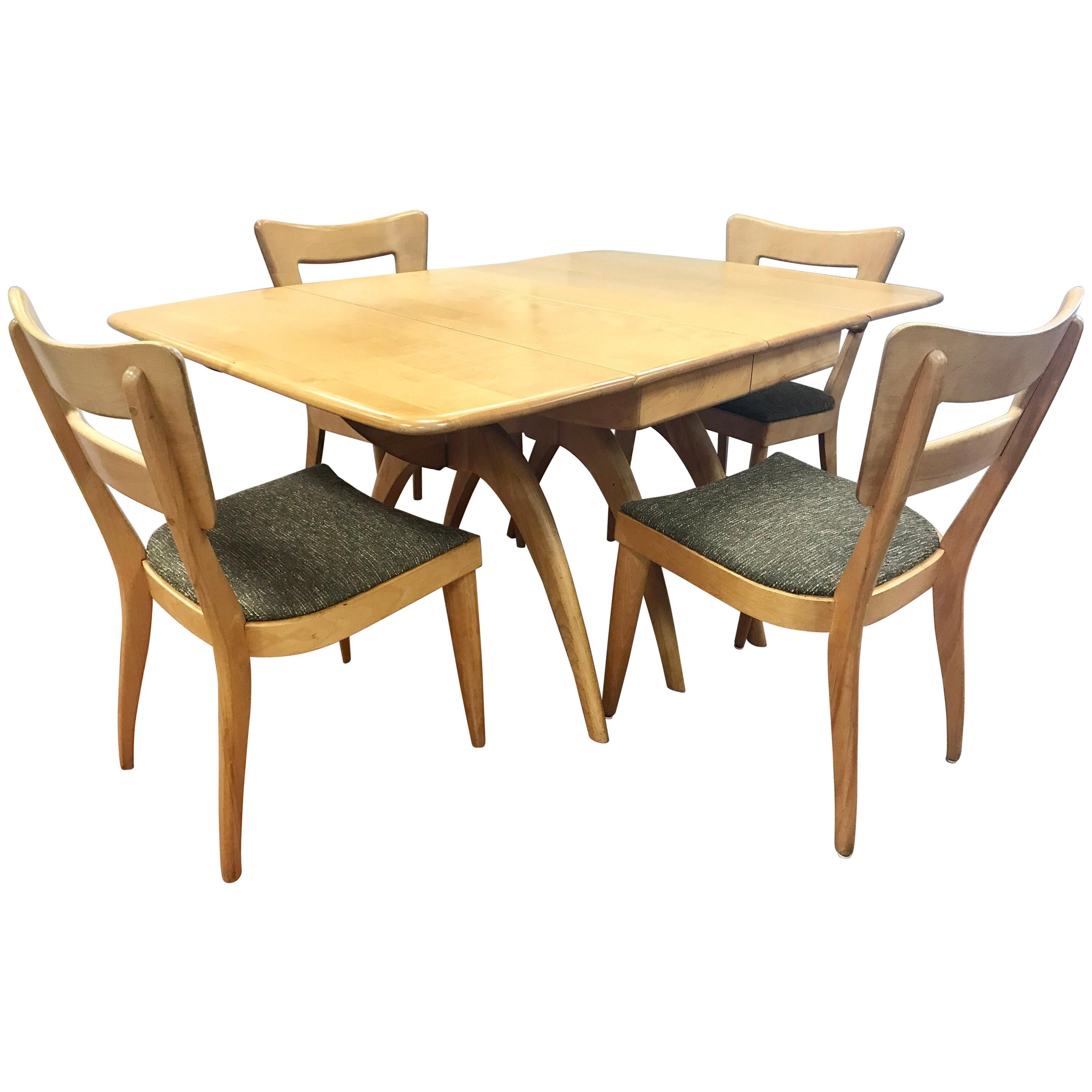 Heywood Wakefield Dining Set Champagne Boomerang Dining Table Dog Bone  Chairs For Sale