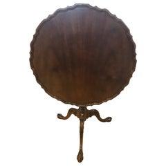 Baker Furniture Mahogany Wood Pie Crust Tilt-Top Table