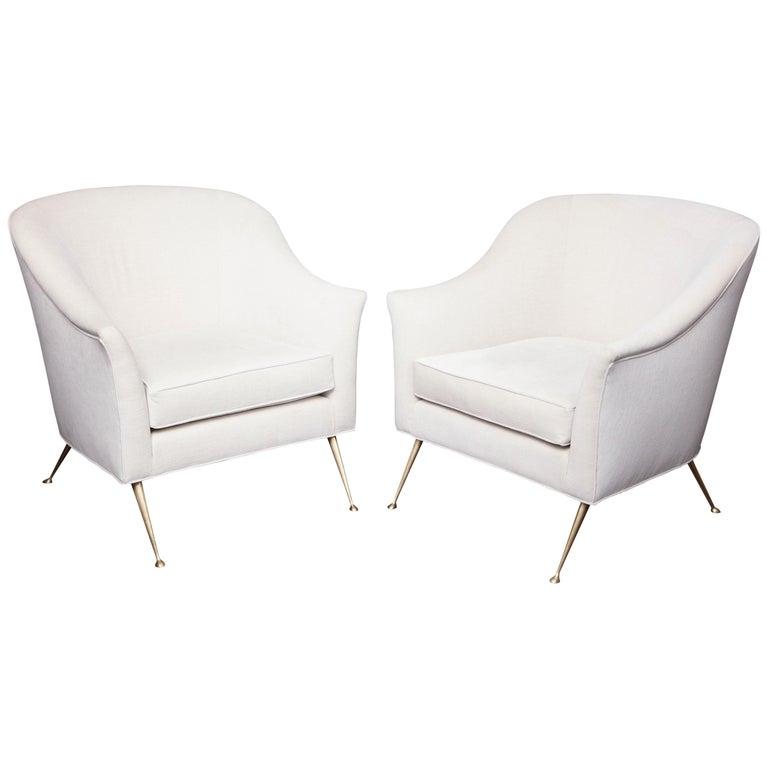 Mid-Century Modern Italian Club Chairs