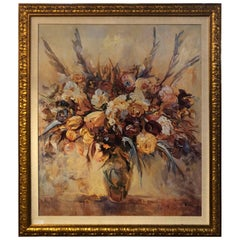 "Oil on Canvas by Mary Dulon Titled ""The Warmth of Flowers"""