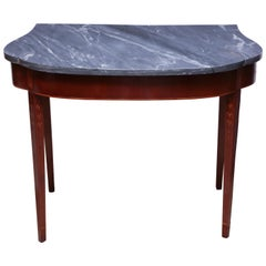 Federal Marble-Top Mahogany Console Table
