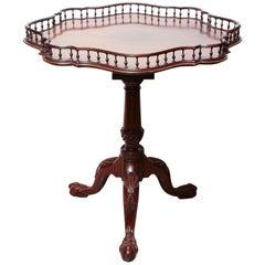 Rare George II Mahogany Tilt-Top Wine Table