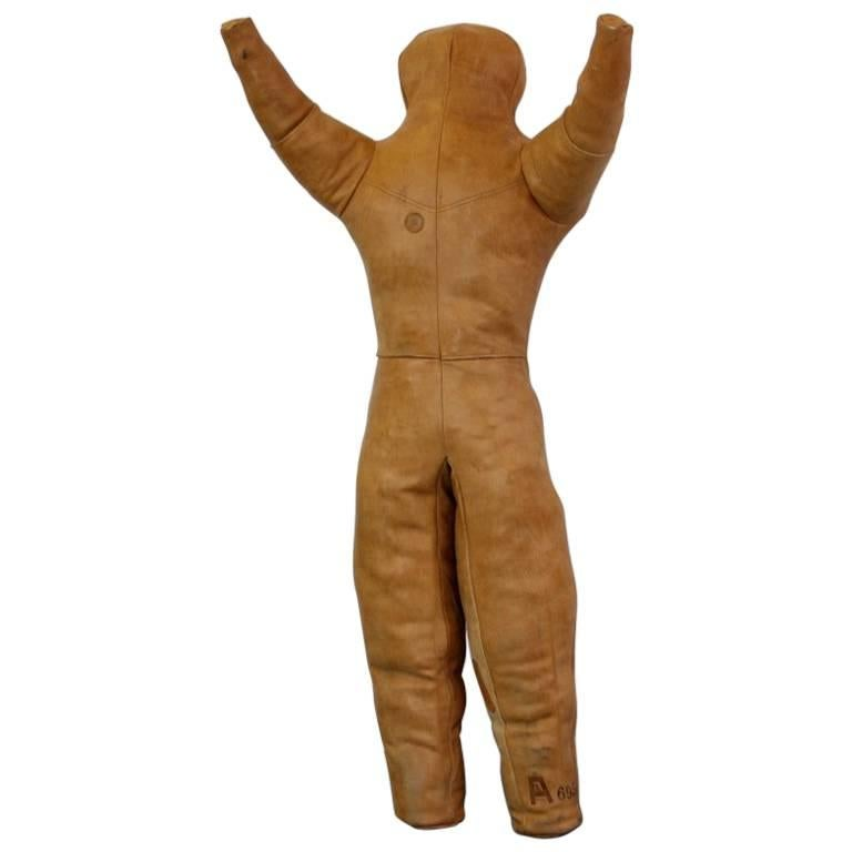 Light Tan Leather Wrestling Dummy, circa 1940s