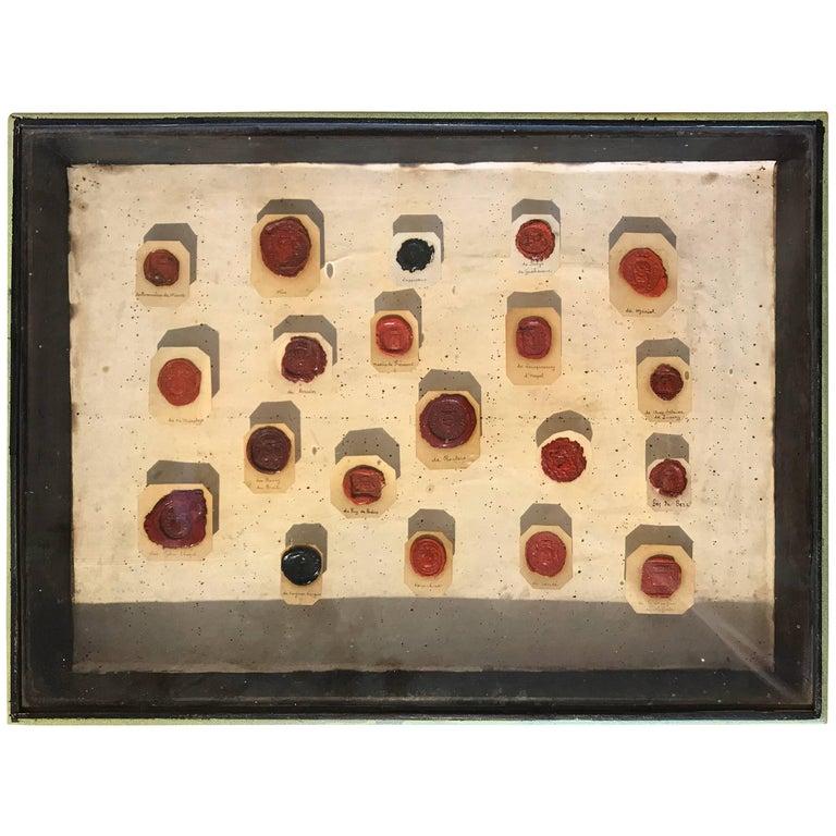 Framed 18th Century Wax Seals