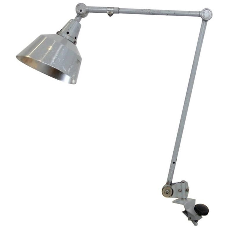 Grey Industrial Desk Lamp by Curt Fischer Midgard