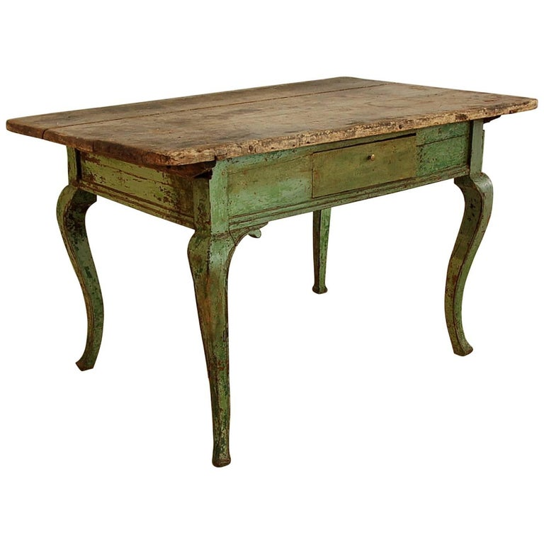 Rococo 18th Century Writing Table, Origin Sweden, circa 1760