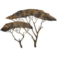 20th Century Theatre Scenery Trees Wall Sculpture