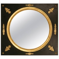 Large Mirror, Handmade Black Paint and Gilding