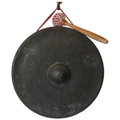 19th Century Small Japanese Bronze Gong