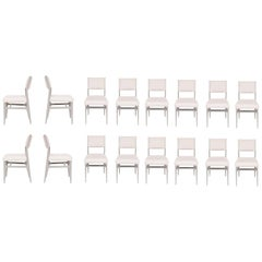 Set of 16 Maze Lacquered Dining Chairs