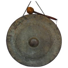 19th Century Bronze Japanese Temple Gong