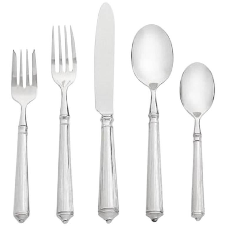 Rialto by Ricci Stainless Steel Flatware Set for 12 Service 60 Pieces New