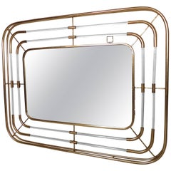 Large Vintage Style Lucite Wall Mirror