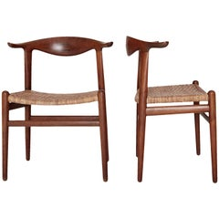 Hans Wegner Cow Horn Chairs, Model JH 505, Johannes Hansen, Denmark, 1950s-1960s