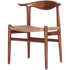 Hans Wegner Cow Horn Chair, model JH 505, Johannes Hansen, Denmark, 1950s-1960s
