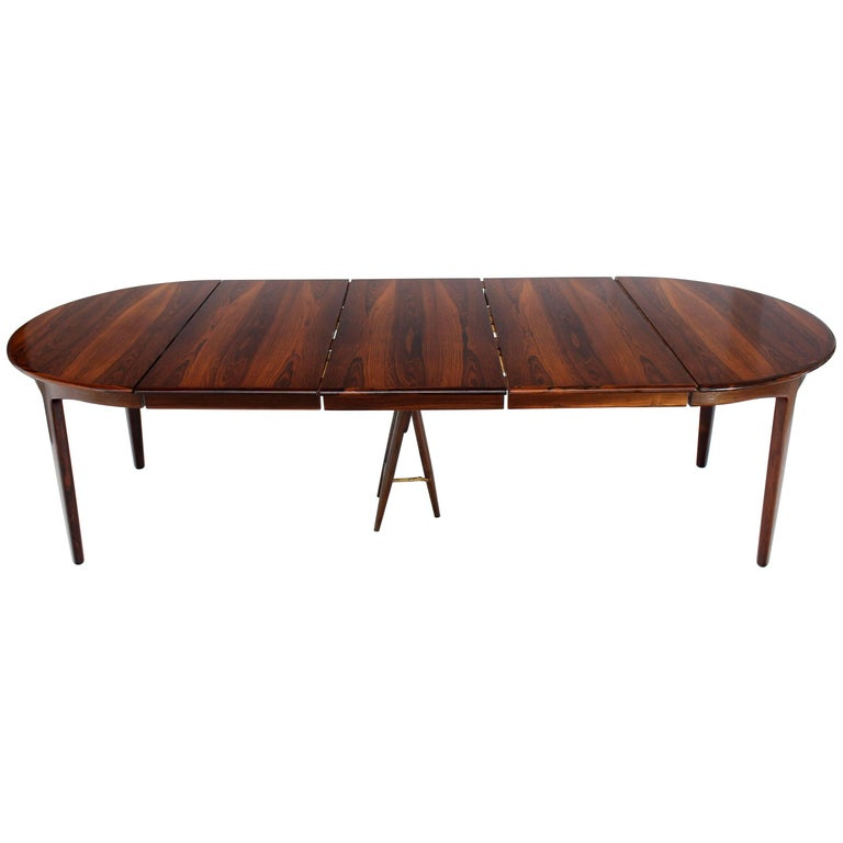 MidCentury Modern Dunbar Dining Or Conference Table With Three - Mid century modern conference table