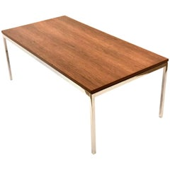 American Midcentury Rectangle Walnut Coffee Table by Knoll